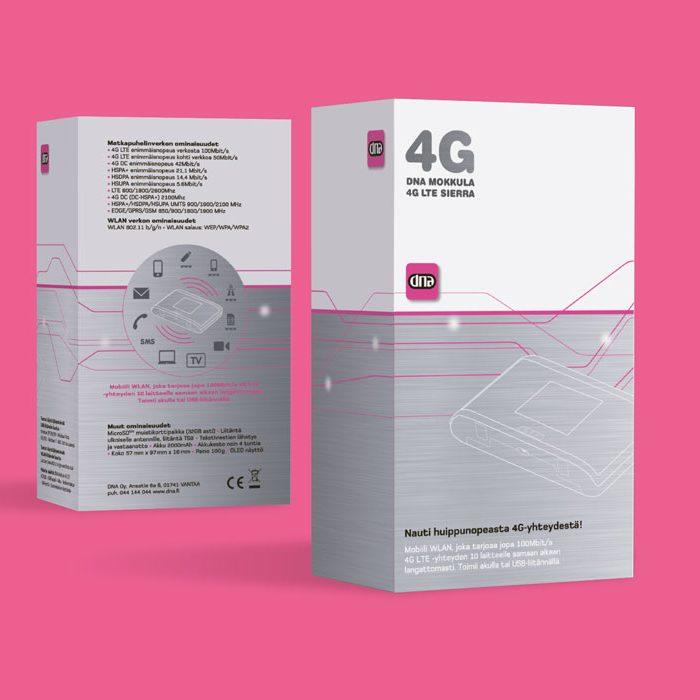 DNA 4G Graafinen suunnittelu