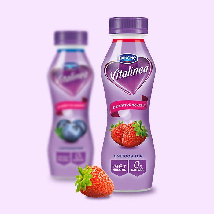 Danone Vitalinea pakkaussuunnittelu