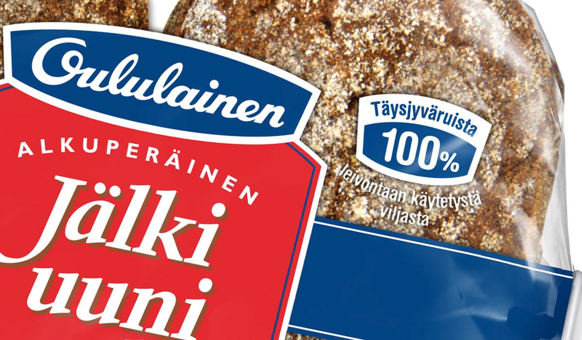 Oululainen Jälkiuunileipä merkkien suunnittelu