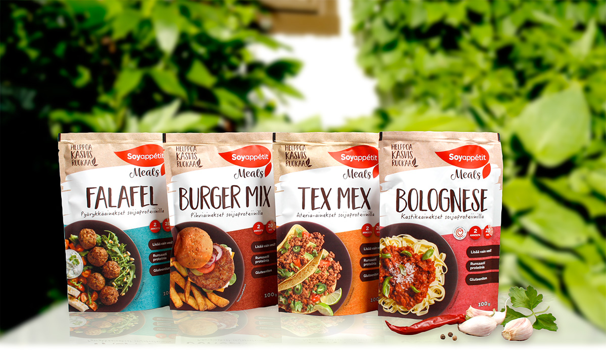 Soyappétit Meals package redesign