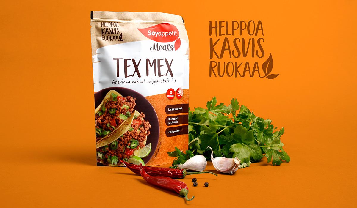Soyappétit Meals graphic design