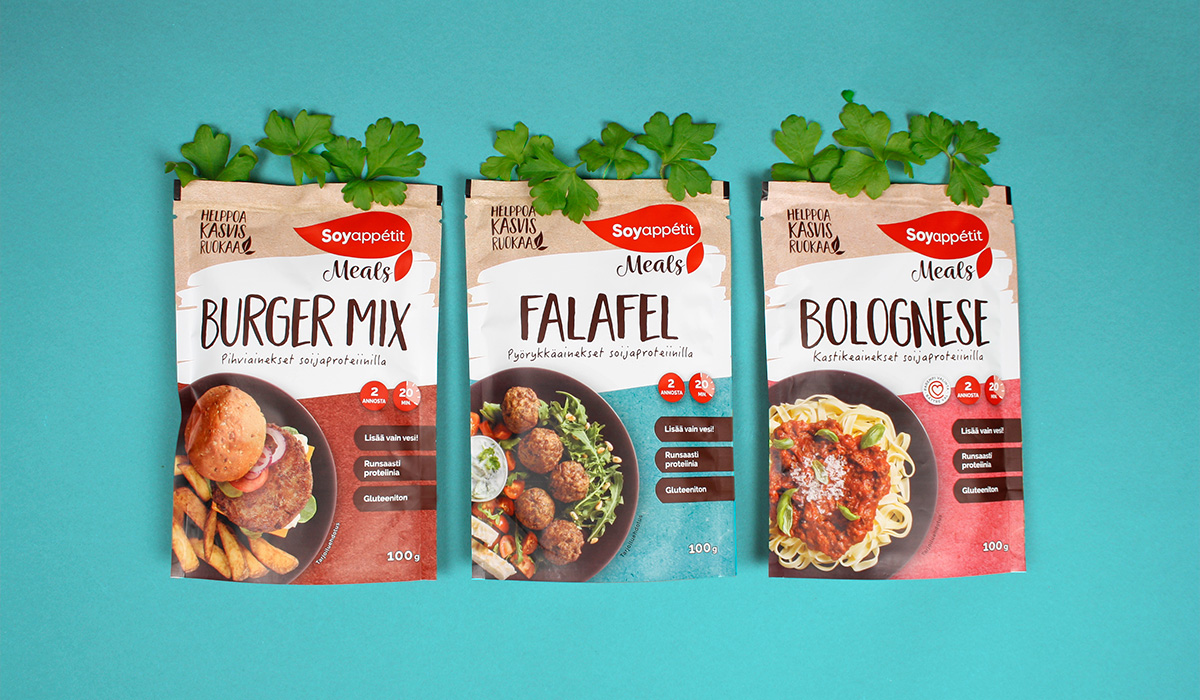 Soyappétit Meals brand design