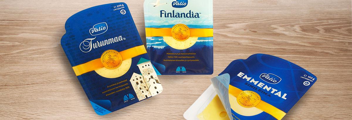 Valio juustoviipale pakkausmuotoilu