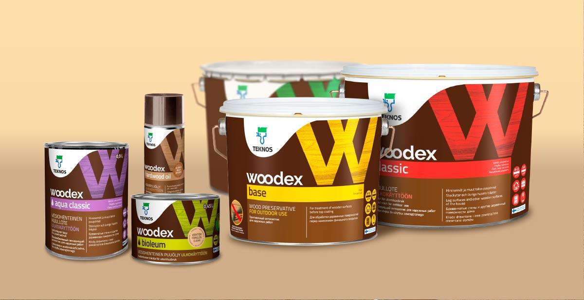 Teknos Woodex -tuotesarjaa