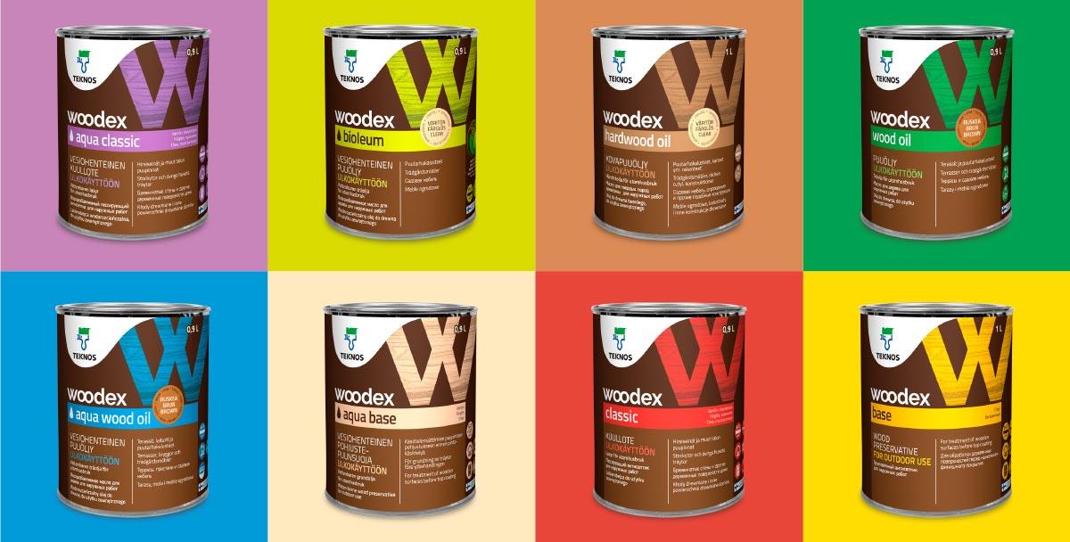 Woodex 1L pakkauksia