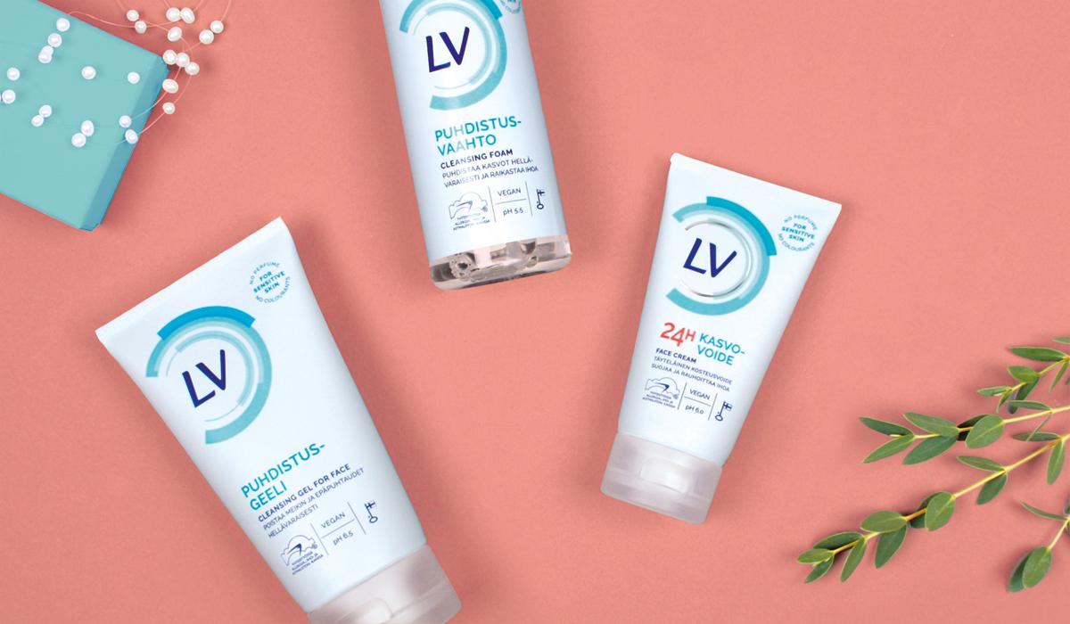 LV kosmetiikkapakkauksia