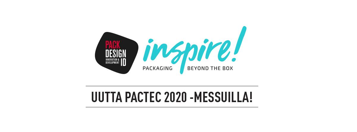PacTec-messuilla pakkaussuunnittelun inspiraationäyttely INSPIRE!