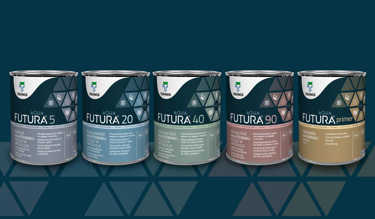 Teknos pakkausdesign Futura Aqua