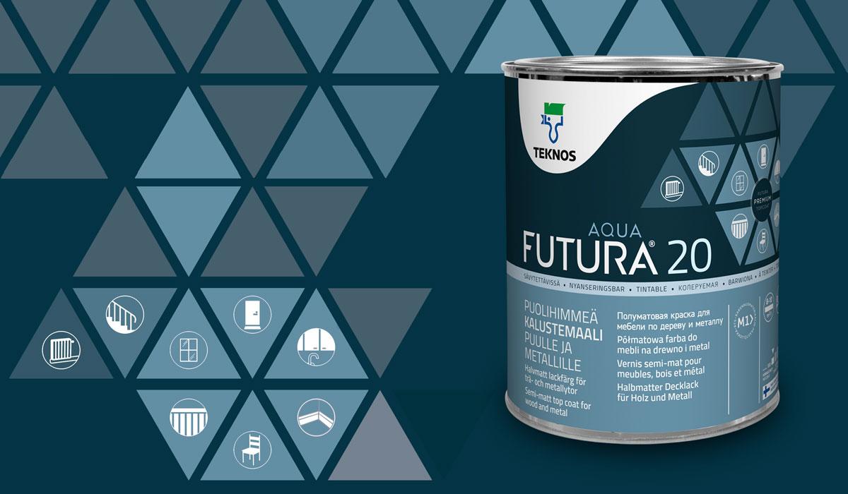 Teknos pakkaussuunnittelu FuturaAQUA
